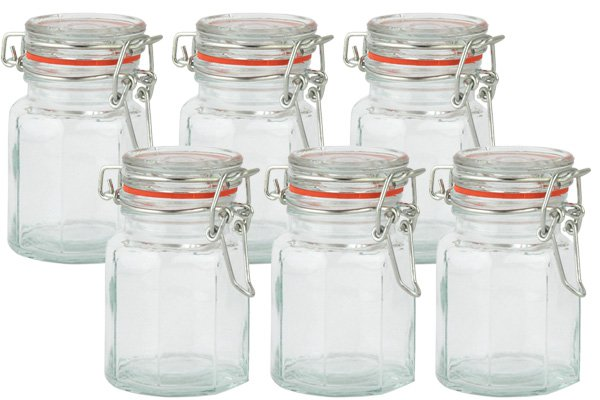 Square Spice Jars